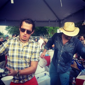 Standard Pour's Armando Guillen and Brian McCullough battle the crush at Margarita Meltdown 2013 in Oak Cliff.