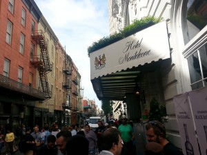 The 'Texas Tailgate' welcomed early conference-goers outside the Hotel Monteleone, TOTC headquarters