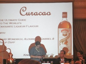 Esquire magazine's cocktail guru, David Wondrich, helped lead a session on Curacao