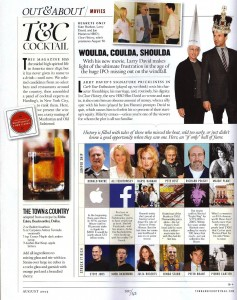 The August 2013 issue of Town & Country highlights the Dallas bartender's recipe (courtesy Town & Country magazine)