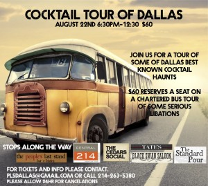 Dallas cocktail tour