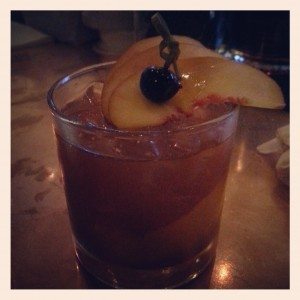 Brad Bowden of The People's Last Stand infused Clyde Mays with smoked peaches for his entry.