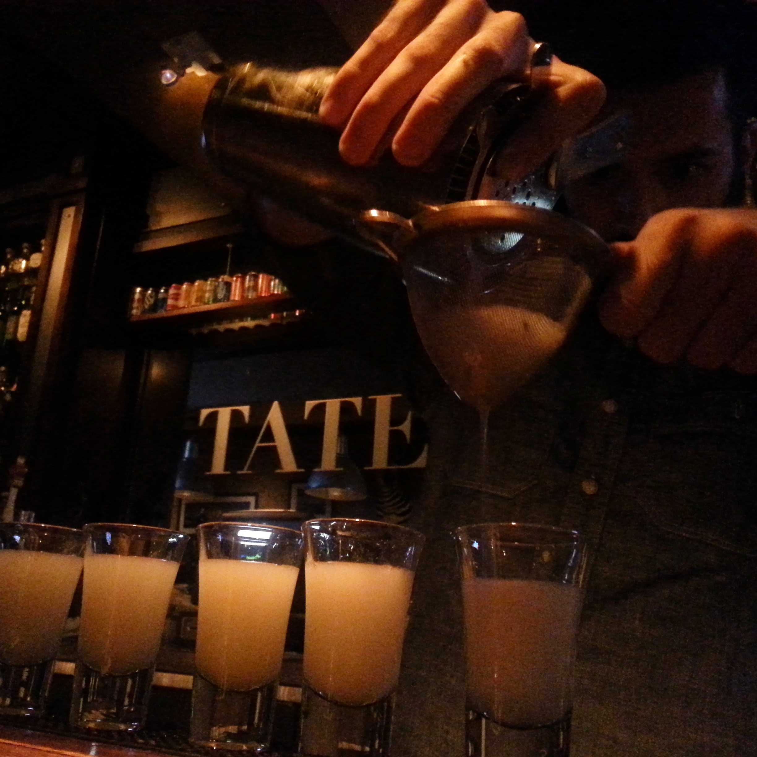 A Local Stronghold Gets Stronger Bartender Ian Reilly Pours Line Of Snaquiris At Tate S