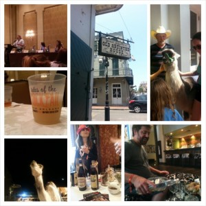 Clockwise, from upper left: Esquire's David Wondrich at a Tales workshop; The Old Absinthe House; French Quarter llama sighting; The 86 Co.'s Jason Kosmas; Italian amaro producer Orietta Varnelli; a freakin' camel; a TOTC cocktail.