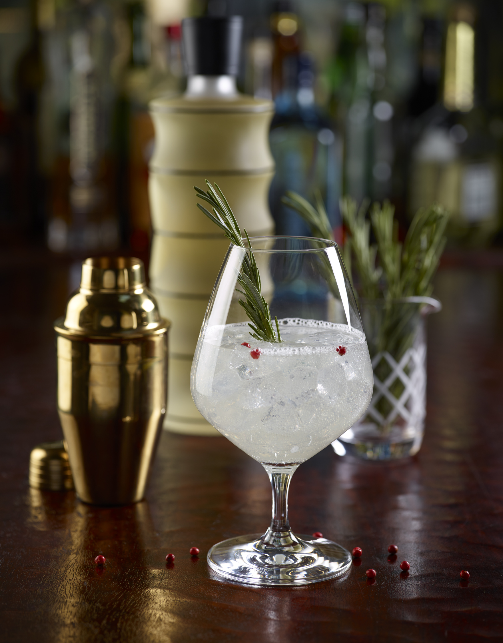 This gin and tonic -- with rosemary and a bit of ginger liqueur -- will take you back to yesteryear at Ruth's Chris' 50th anniversary cocktail dinner.