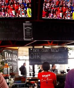 Several of OTR's bottled cocktails are now available at Toyota Stadium's Jack Daniels Lounge.
