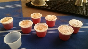 Each competing bartender made mini versions of their drinks for attendees.