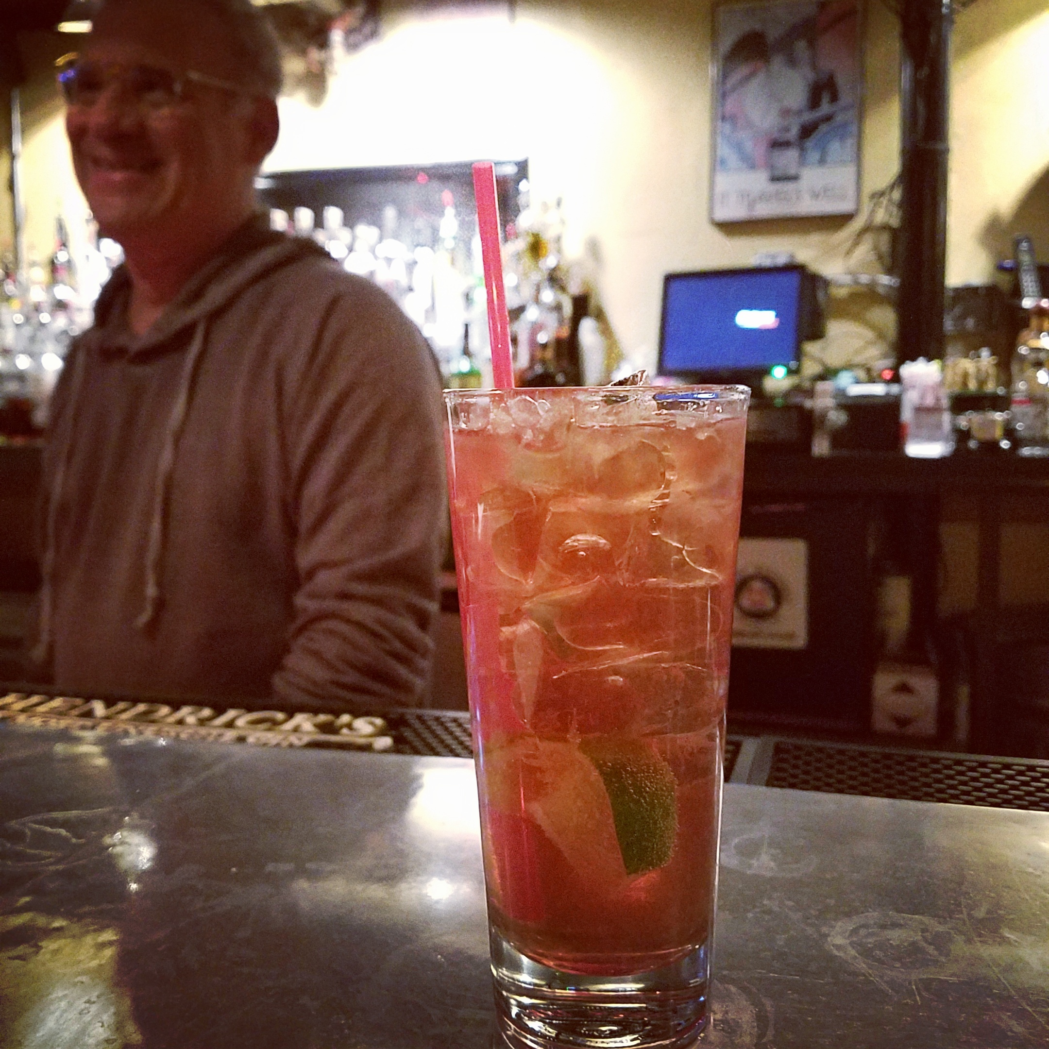 Industry Alley's Singapore Sling is barman Charlie Papaceno's slightly tweaked version of what's believed to be the drink's original recipe.
